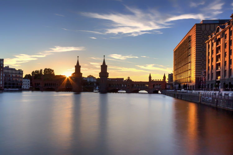 Berlin Oberbaumbrücke Berlin Friedrichshain Kreuzberg Oberbaumbrücke Sunset_collection Architecture Building Exterior Built Structure City Cityscape Day Nature No People Oberbaumbridge Outdoors River Sky Sunset Travel Destinations Treptow Water Waterfront