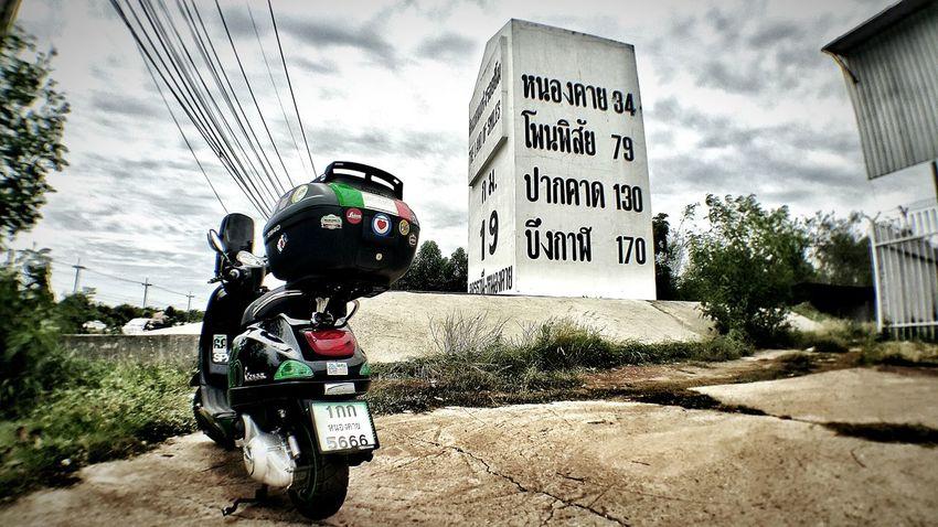 Vespa Lx Enjoying Life Nongkhai Thailand