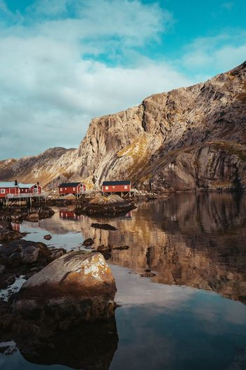 Nusfjord in Lofoten islands Fjord Hike Love WOW Nature Amazing Lofoten Lifestyles Nature Photography Landscape Love Beauty In Nature Architecture Day Travel No People Land