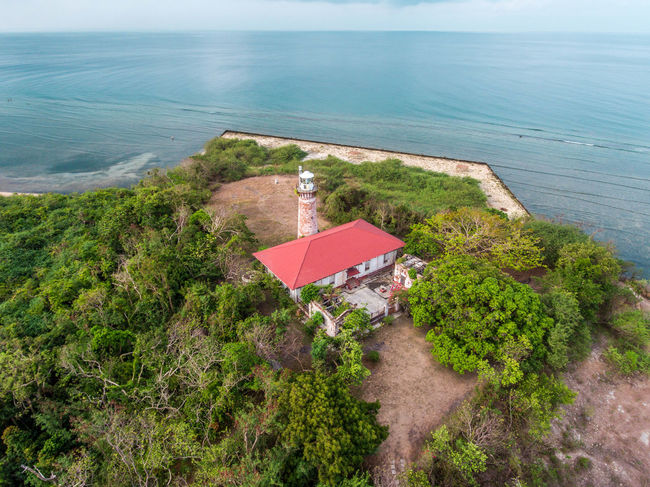 Architecture Beach Beauty In Nature Building Exterior Built Structure Day EyeemPhilippines Grass High Angle View Horizon Over Water Lighthouse Nature No People Outdoors Scenics Sea Tranquil Scene Tranquility Water