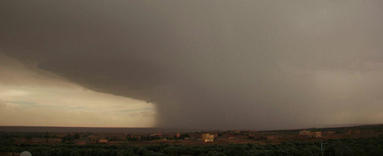 Deceptively Simple Storm is Coming Awilk Rain Morocco Errachidia