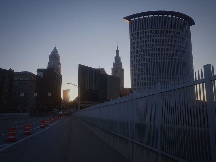 #cleveland Cleveland City Sunrise Mirror Giantmirror Cityscape Urban Skyline Skyscraper Politics And Government Modern Business Finance And Industry Illuminated Sky Architecture Tower Downtown District High Rise Office Building