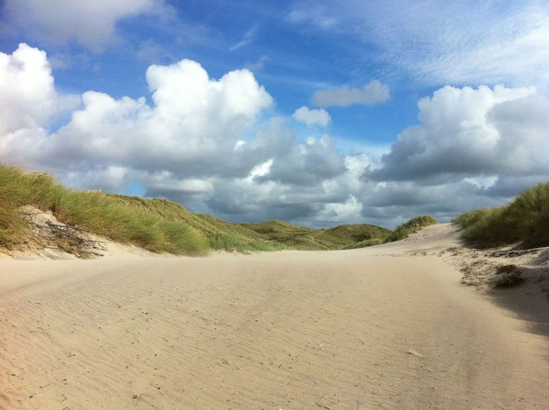 Beach Beauty In Nature Cloud - Sky Day Landscape Nature No People Outdoors Sand Sand Dune Scenics Sky Tranquil Scene Tranquility I Am New Here Dänemark Denmark
