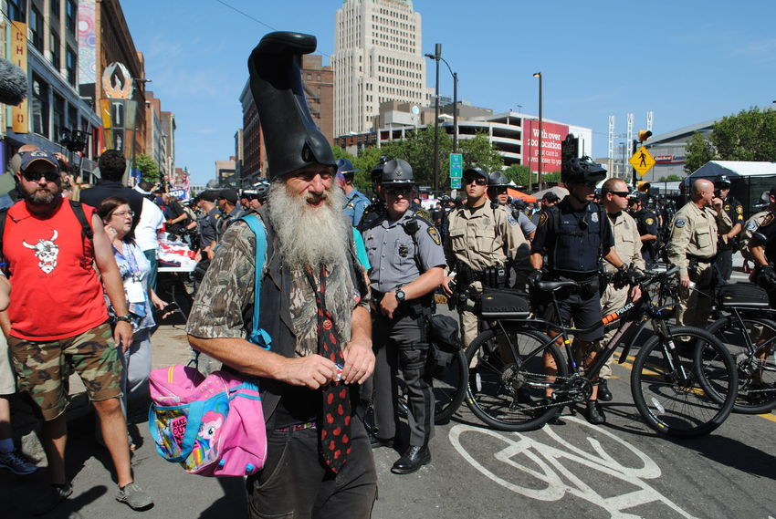 Vermin Supreme ~Day 3 Cleveland Documentary Documentary Photography Large Group Of People Law Enforcement Photo Series Photojournalism Protesters Republican National Convention 2016 RNC RNC2016 RNCinCLE Street Photography The Purist (no Edit, No Filter) VerminSupreme Resist The Photojournalist - 2017 EyeEm Awards The Street Photographer - 2017 EyeEm Awards