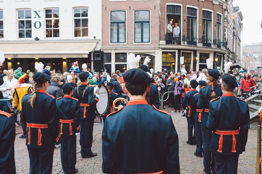 Celebration City Day Festival Festival Season Grote Markt Large Group Of People Men Netherlands Outdoors People Real People Rear View Saint-Nicolas Sint-Nicolaas Sinterklaas Zwarte Piet