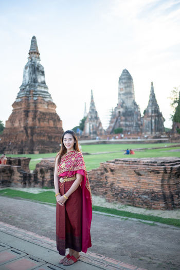 Portrait of woman in temple