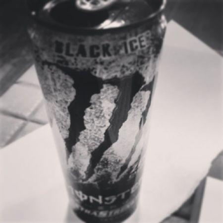 Starting the day off Monster Monsterenergy MonsterEnergyDrink Blackice