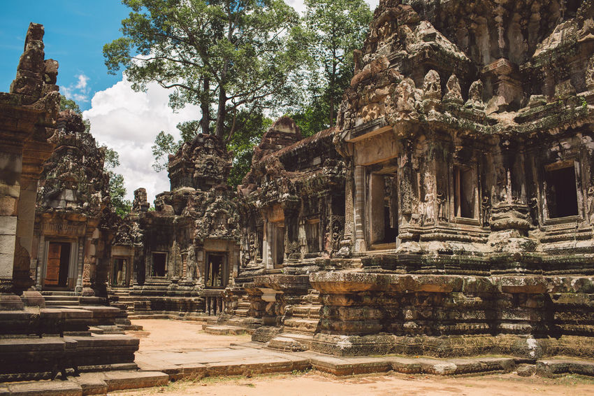 Siem Reap Cambodia Angkor Built Structure Architecture Place Of Worship Religion Belief History Ancient The Past Spirituality Travel Destinations Building Travel Tourism Old Ruin Tree Ancient Civilization Day Building Exterior No People Architectural Column Outdoors Archaeology Ruined