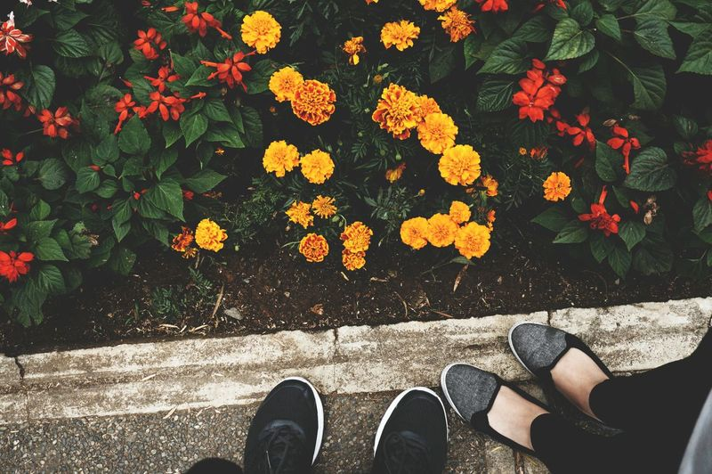 Two Is Better Than One Shoe Selfie Red And Yellow EyeEmNewHere