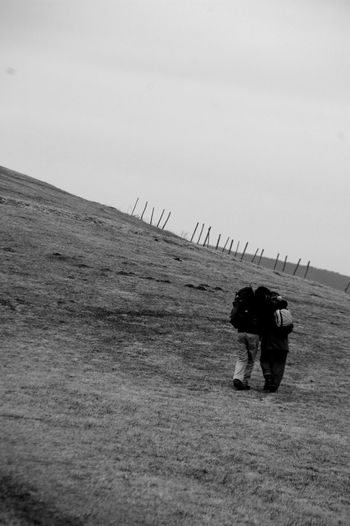 Blackandwhite Couple Intimacy Nature Path People Protection Together Travel Walking