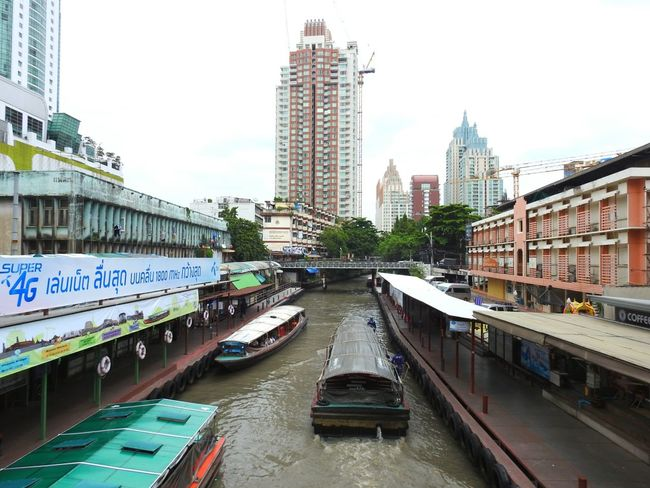 Boat Bus Canal Streetphotography Thailand Bangkok Colors Of Bangkok Let's Go. Together. Real Thailand Happy Summer Holiday Skyscraper I'm In Bangkok Summertime Real Life Sunny Day 🌞 Summer ☀