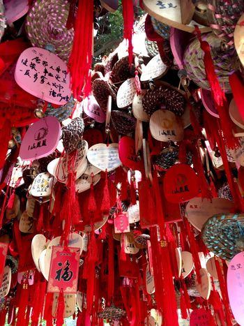 Chinese Wishing Tree at Phoenix Mountain in Baoan - Shenzhen, China Chinese Cultural Celebrations Chinese Style Traditionally Chinese Chinese Culture Traditional Chinese Wishing Tree Phoenix Mountain Hanging BaoAn Temple Tree Mountain Buddhist Temple Buddhism Wish Tree Wishes Traditional Culture Shenzhen China Chinese
