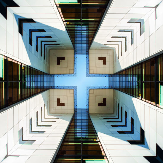 Architecture Köln Modern Architecture Architectural Column Architecture Blue Building Building Exterior Built Structure City Day Directly Below Geometric Shape Glass - Material Illuminated Low Angle View Modern No People Office Building Exterior Outdoors Pattern Reflection Tile Tiled Floor Window