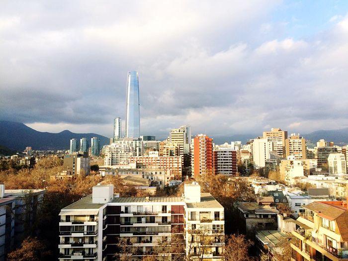Skyline Cityscape Santiago De Chile