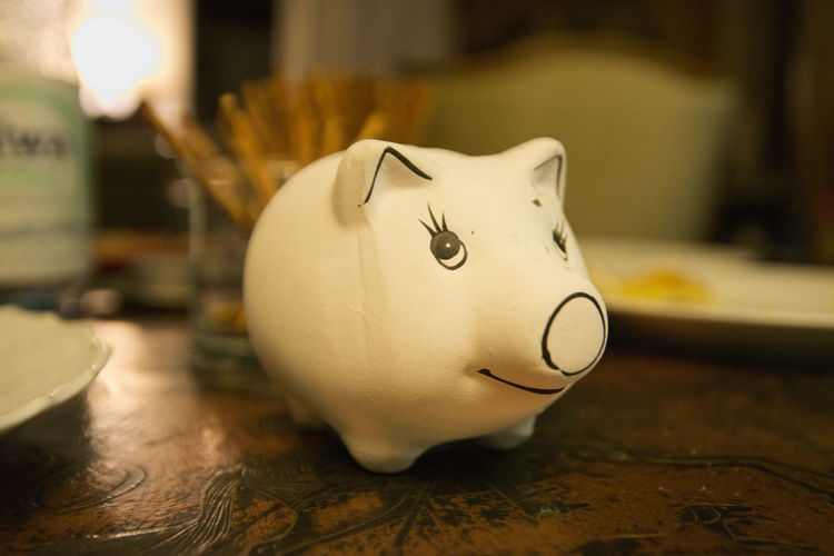 Bright Figure Map Piggy Bank Statue Wood Animals Art Clay Ears Evening Eyes Friendly Indoors  Living Room Mammals Night Nikonphotography Pig Saving Money Small Objects Smiling Table White