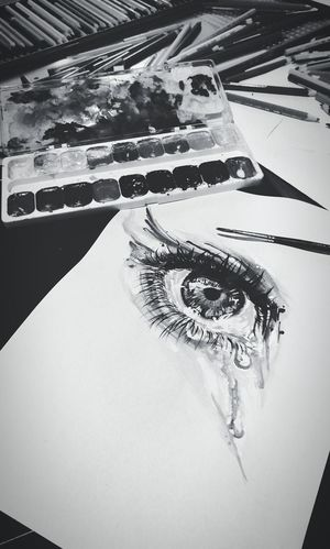 Close-up Human Eye Real Life Lifestyles Coolpics Artistic Photo Art ArtLife Drawing Eye Watercolor Watercolor Painting Artist Tattoosketch Tattooartist  Ink Sketch Eyedrawing Blackandwhite Photography