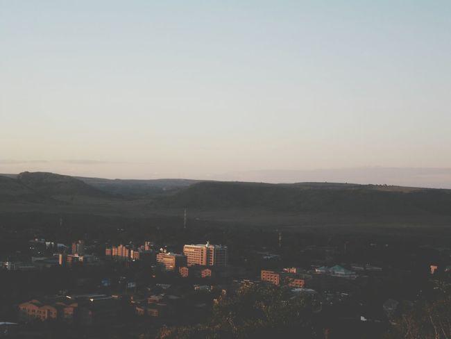 Golden hour shots Sunset Down Town Maseru