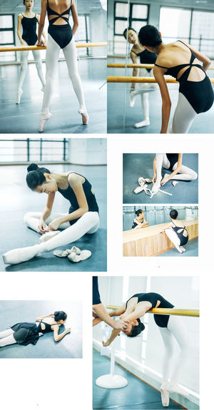 A girl who loves Ballet Ballet Dancer Collage Day Exercising Human Leg Indoors  Lifestyles Low Section Multiple Image One Person People Real People Women