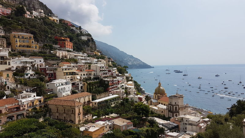 view looking over positano, Italy EyeEm Best Shots Eye4photography  EyeEm Gallery Eyeemphotography Eyemphotography City Cityscape Water Sea Beach Tree Residential Building Sky Architecture Building Exterior Seascape Coastline Coast Rocky Coastline Coastal Feature Headland