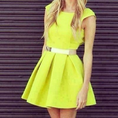 cute yellow dress for summer! want it! follow me! shoutout?