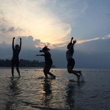 Sunset Toba Lakejump And A Half Jump 😁😁 Girlsfriend