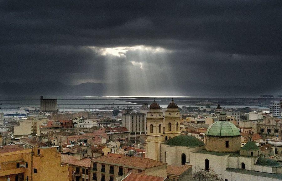 Hole Hole In The Sky Cagliari, Sardinia Sardegna Skyporn Sky Town View