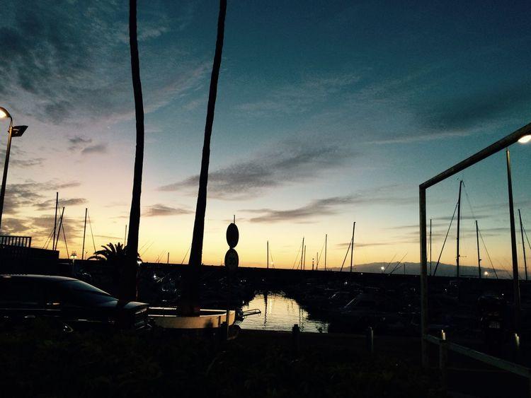 Sunset Harbour Tenerife Fresh On Eyeem  Evening Sky Beautiful Colors Tranquility