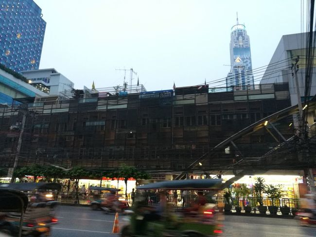 Bangkok City Cityscape Urban Skyline Architecture Building Exterior Built Structure Vehicle Land Vehicle Light Trail
