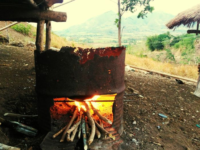 Eyeem Philippines Outdoors No People Fire Cooking At Home Indigenous  Bukidnon Life
