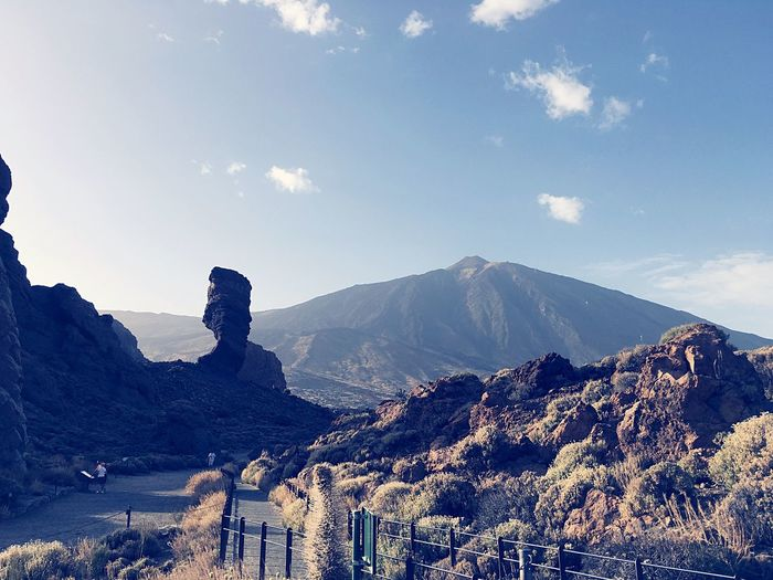 Scenic view of teide national park against sky at tenerife