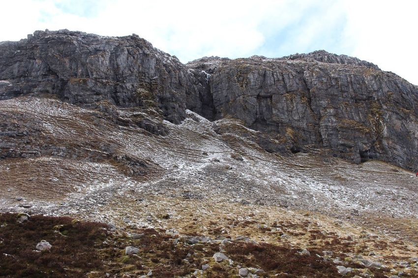 Heading to the bone caves..... Landscape Bone Caves Scotland Scottish Highlands Hiking Geology Sky Nature No People Day Outdoors Low Angle View Winter Mountain Tranquility Beauty In Nature Cold Temperature