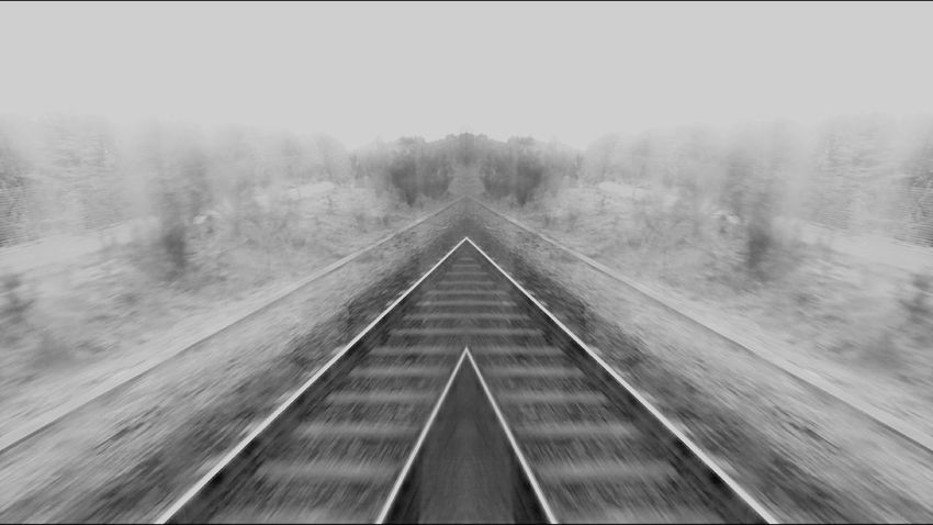 The Way Forward No People Symmetry Outdoors Day Creativity Sony Z5 Premium Abstract Photography Art Is Everywhere Blackandwhite Photography Train Tracks To No Where