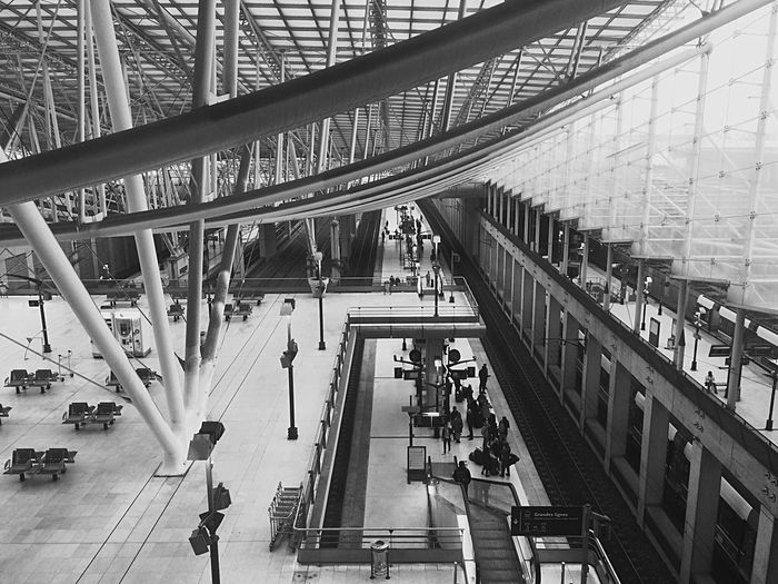 Airport Aeroport Charles De Gaulle Airport Architecture Monochrome Monocrome Bandw Shadows & Lights Deceptively Simple Clean White Architecture_collection Angles Light And Shadow Smart Simplicity Modern Architecture Paul Andreu The Architect - 2015 EyeEm Awards