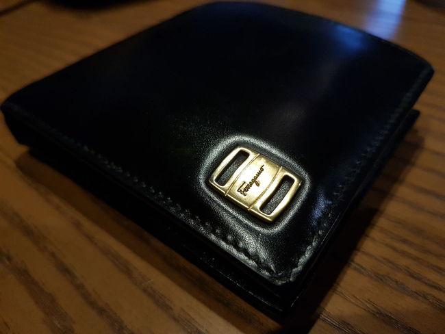 ferragamo Italy Black Classic Wallet WalletLeather Calf Ferragamo Leather Leather Wallet Close-up Macro Macro Photography Fashion Samsungphotography S8plus Samsung Galaxy S8+