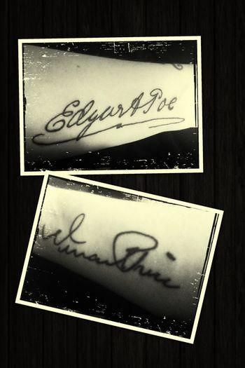 My tattoo ... Edgar Allan Poe ... Vincent Price Tattoo Vincent Price Edgar Allan Poe