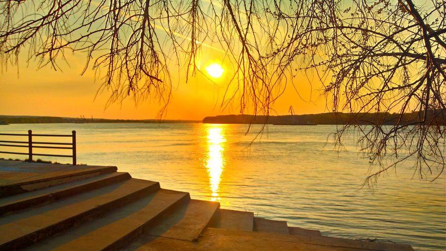 April sunset at