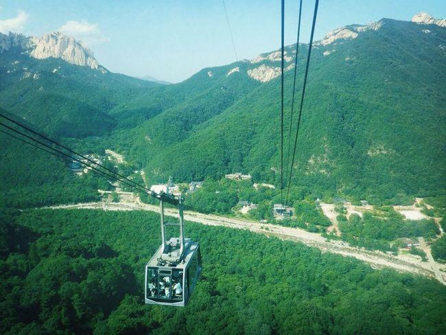 Cable Car Mountains Hello World Heights Saraksan mountains, South Korea