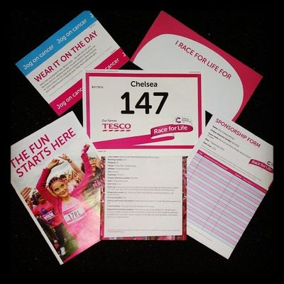 Sorry Chelsea I opened it I thought it was mine ? RaceForLife Prettymuddy Cancerreasearch