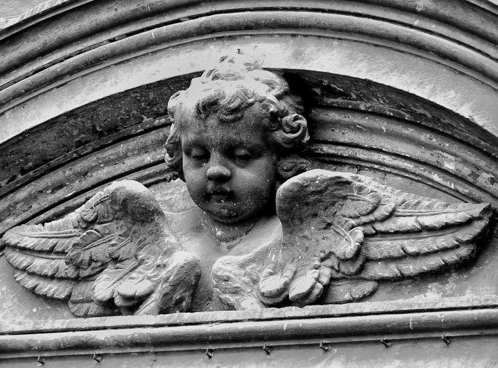 Angel Angelot Art And Craft Black & White Black And White Black&white Blackandwhite Creativity Historic Ornate Religion