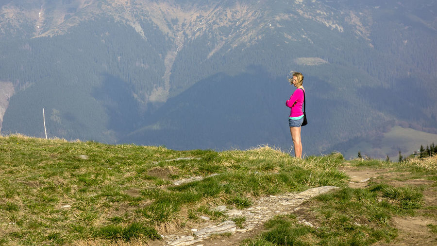 landscape Donovaly Slovakia Velka Fatra Beauty In Nature Casual Clothing Day Females Full Length Girls Grass Land Leisure Activity Lifestyles Mountain Nature One Person Outdoors Plant Real People Scenics - Nature Standing Sunlight Women Zvolen
