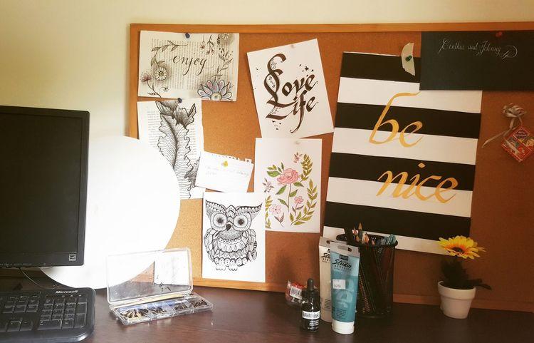 A desk job i like Illustration Calligraphy Cynthiamakesart Doodling