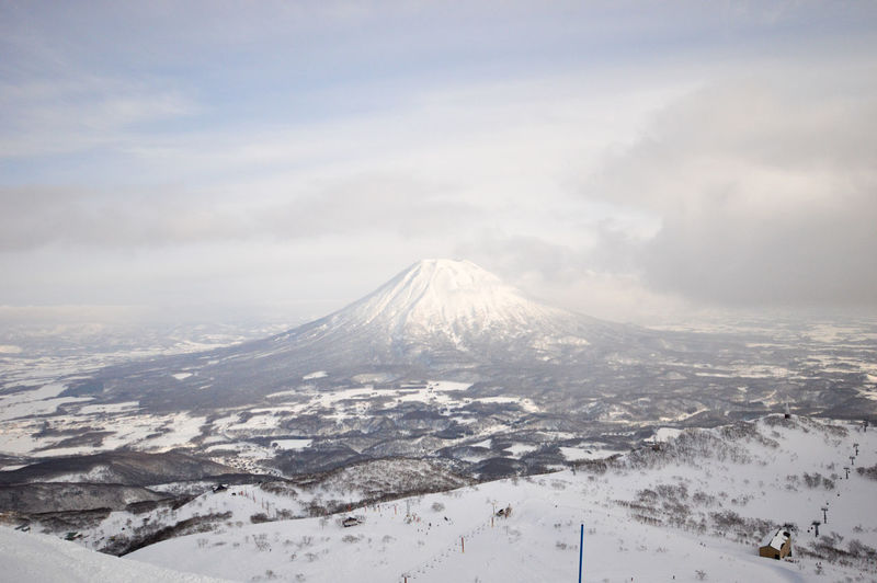 Beauty In Nature Cloud - Sky Cold Temperature Environment Land Landscape Mountain Mountain Peak Nature No People Non-urban Scene Outdoors Power In Nature Scenics - Nature Sky Snow Snowcapped Mountain Tranquil Scene Tranquility Volcanic Crater Volcano Winter