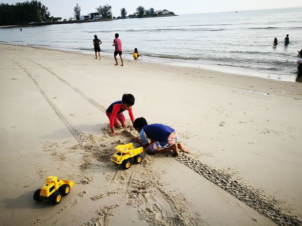 We build our dreams since young Outdoors Beach Seaside Sand Children Toys Sunny☀