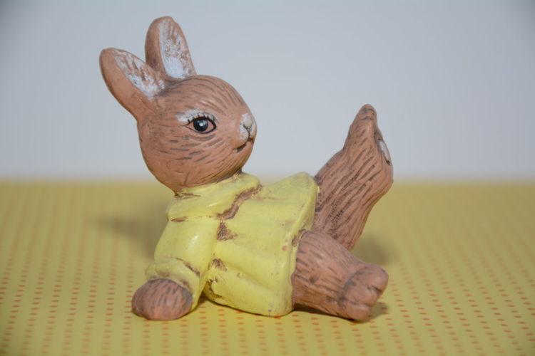 Ready for Easter?! Animals Art Art And Craft Brown Building Lieblingsteil Close-up Decoration Dots Dress Easter Easter Bunny Easter Ready Focus On Foreground Girl Hello World Indoors  No People Rabbit Single Object Spring Still Life Toy White Yellow Paint The Town Yellow