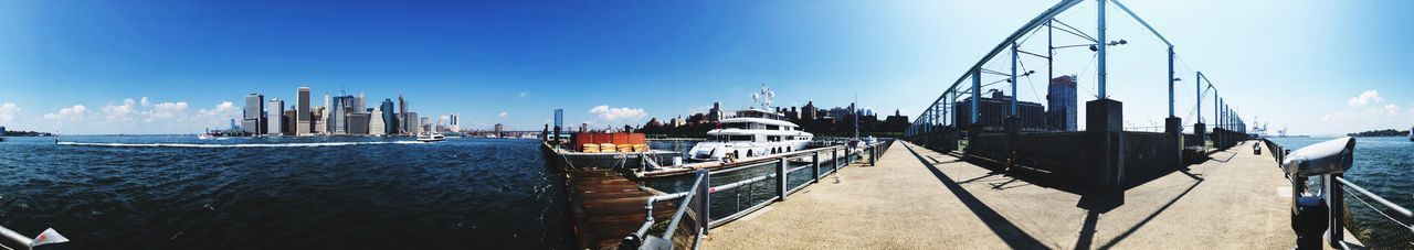 EyeEm Selects Sky Water Architecture Nautical Vessel Transportation Built Structure City Moored Travel Travel Destinations Sailboat Sea Harbor Panoramic Day No People Mode Of Transportation Skyscraper Building Exterior Nature
