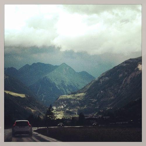 Austria Tirol  Alps Oesterreich Volvov60 Volvo V60 Swedishmetal Swedespeed Road Rain Storm Clouds Instanature Instacars Instapicoftheday