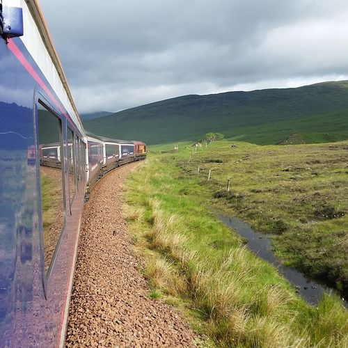Caledoniansleeper Scotland Agriculture Train Highlands Rural Scene Outdoors No People Exploring New Ground