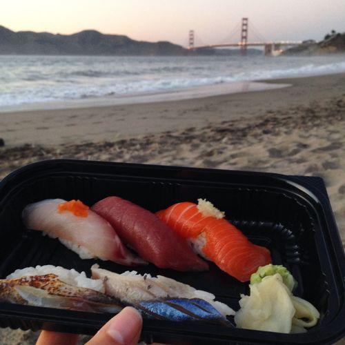 Sushi and sunsets Sushi Sunset San Francisco Golden Gate Bridge