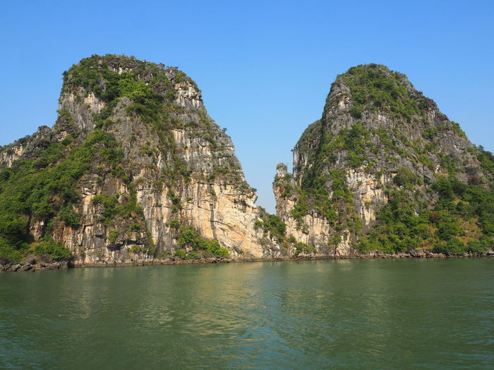 Ha Long Bay Water Beauty In Nature Rock Formation Clear Sky Tranquil Scene No People EyeEm Nature Lover Karstic Rock Formations Sea