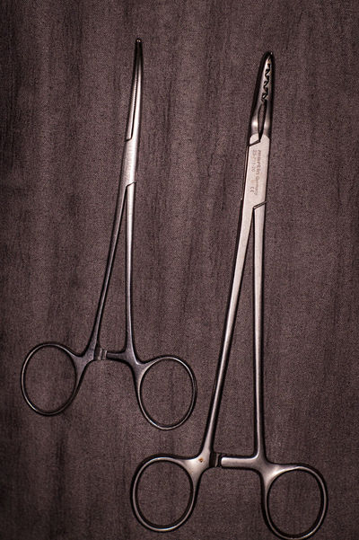 Bad Taste Close-up Equipment Metallic Still Life Surgical Hemostatic Clamps Surgical Instruments Vintage Work Tools